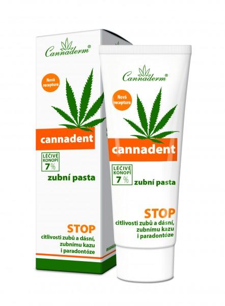Cannaderm Cannadent zubní pasta NEW 75g_PDK 8594054232606