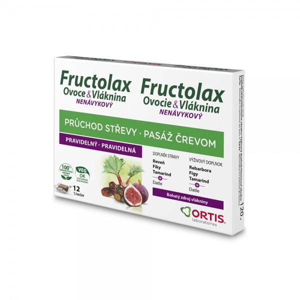 Fructolax Ovoce&Vláknina Žvýkací kostky 12ks