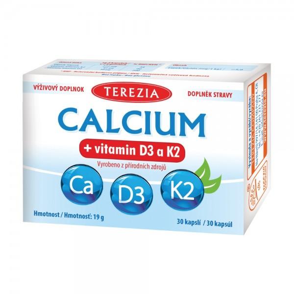 TEREZIA Calcium+vitamin D3 a K2 cps.30