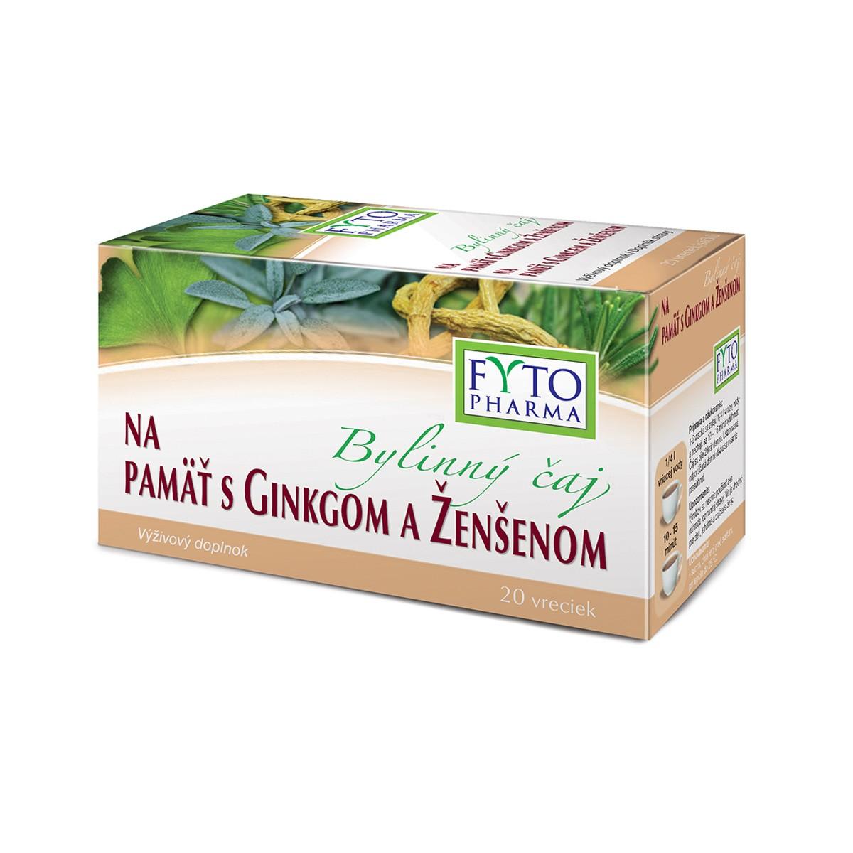 Bylinný čaj na dobrou paměť 20x1.25g Fytopharma