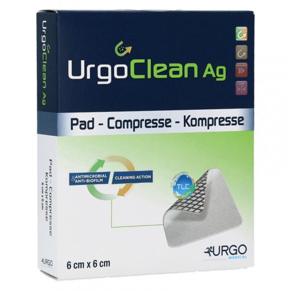 UrgoClean Ag lipidokolid.krytí 6x6cm 10ks