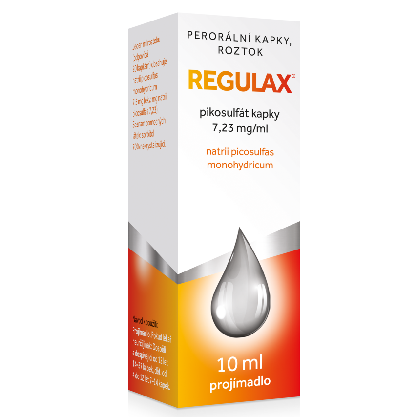 Regulax Pikosulfat kapky gtt.1x10ml-75mg