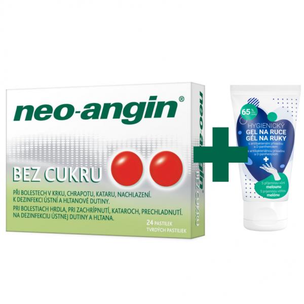 Neo-angin bez cukru pastilky 24 + dárek