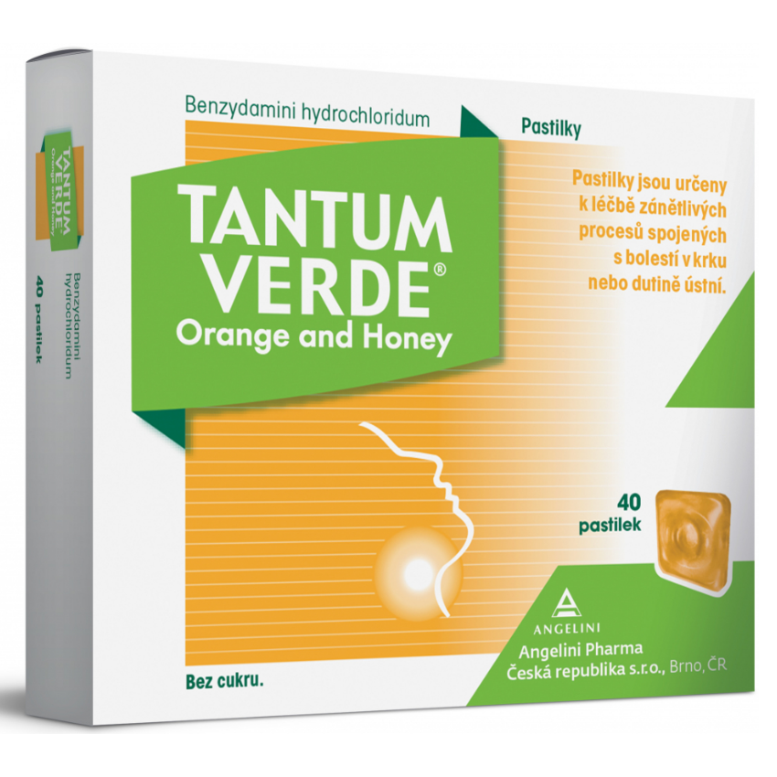 Tantum Verde Orange and honey orm.pas.40x3mg + Tantum Natura 15 gumových pastilek