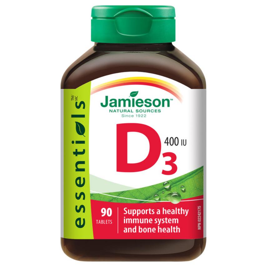 JAMIESON Vitamín D3 400 IU tbl.90