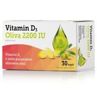 Zobrazit detail - Vitamin D3 Oliva 2200 IU 30 kapslí