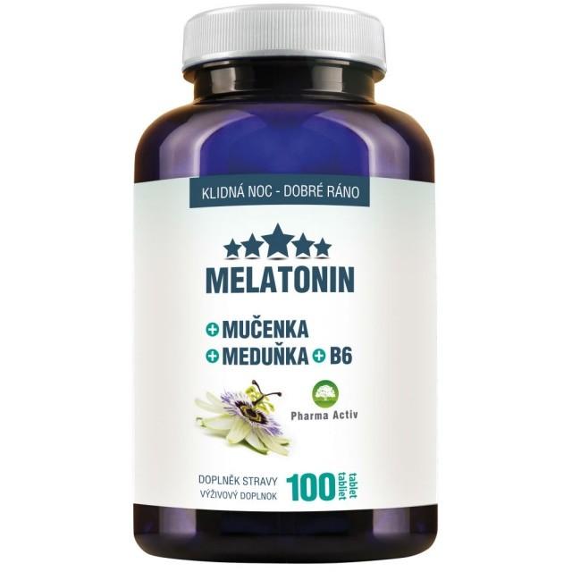 Melatonin Mučenka Meduňka B6 100 tablet