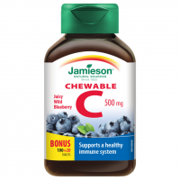 Zobrazit detail - JAMIESON Vitamín C 500mg borůvka cucací tbl. 120