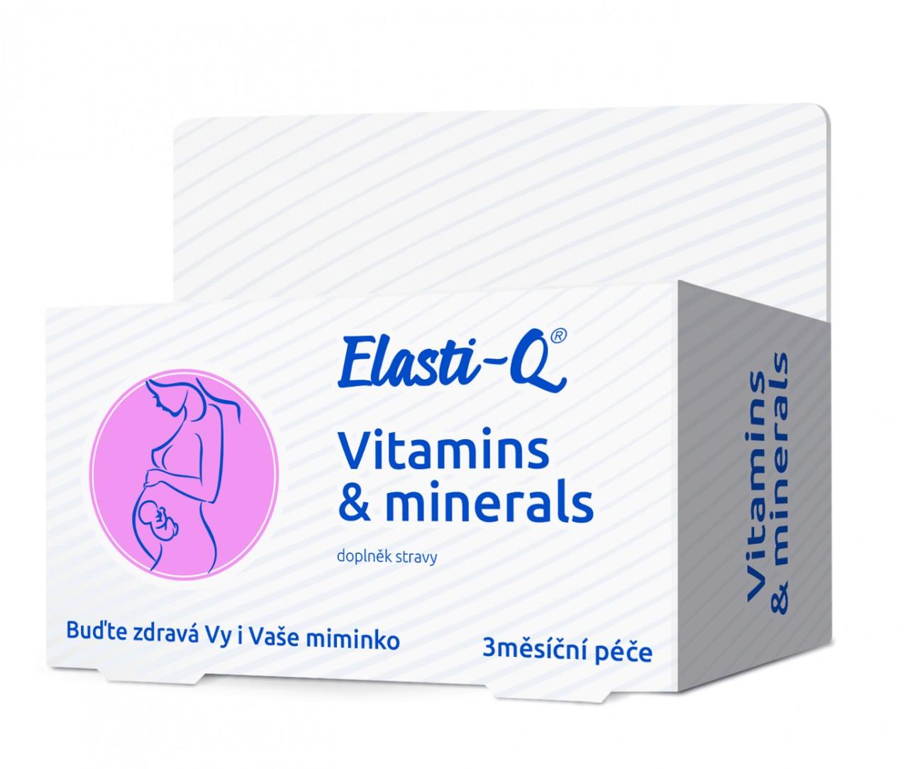 Elasti-Q Vitamins & Minerals s post.uvolňov.tbl.90