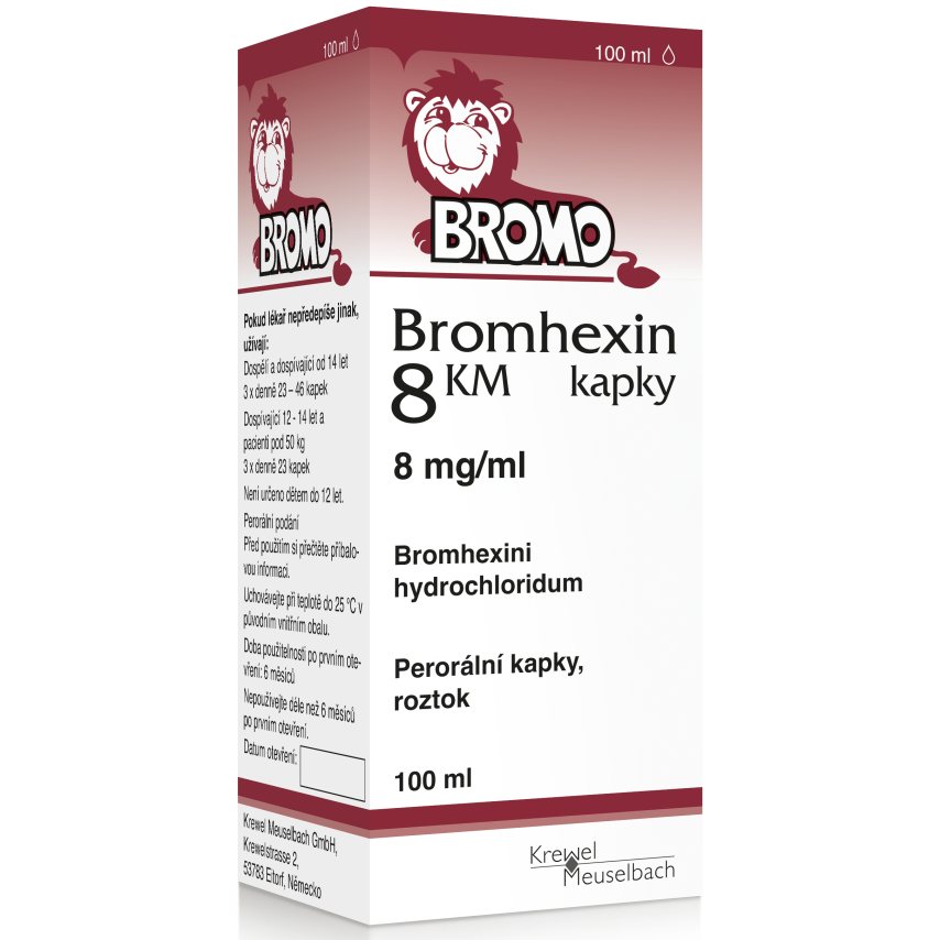 Bromhexin 8 KM kapky gtt.1x100ml 8mg-ml