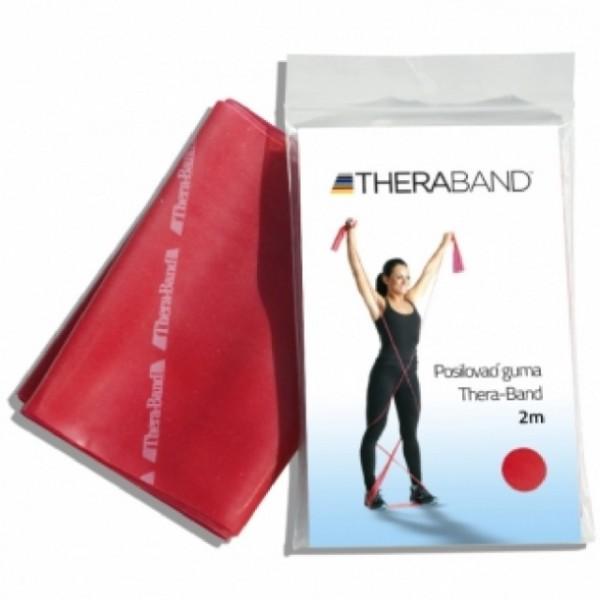 Thera-Band Posilovací guma 2m červená střed.silná