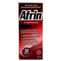 Zobrazit detail - Afrin 0. 5mg-ml nas. spr. sol. 1x15ml-7. 5mg
