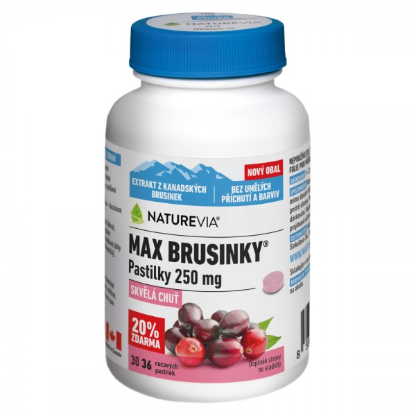 Swiss NatureVia Max brusinky pastilky tbl.30+6