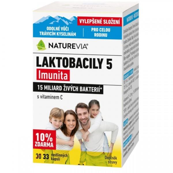 Swiss NatureVia Laktobacily 5 Imunita 33