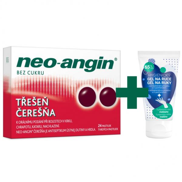 Neo-angin třešeň pastilky 24 + dárek