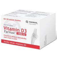 Zobrazit detail - Farmax Vitamin D3 1000IU tob. 60+30 ZDARMA