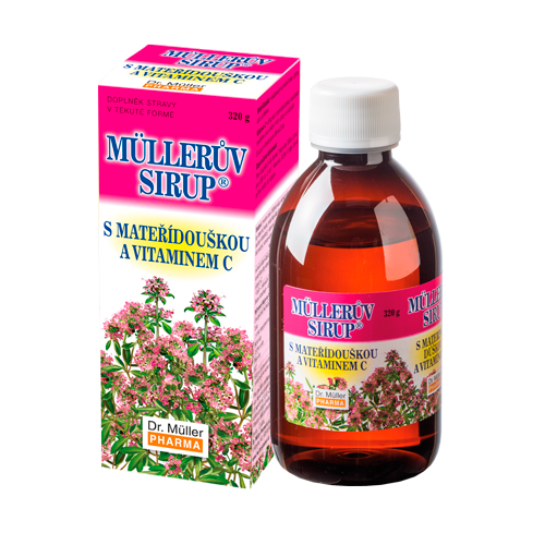 Müllerův sirup s mateřídouškou a vitaminem C 320g