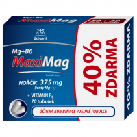 Zobrazit detail - Zdrovit MaxiMag Hořčík 375mg+B6 40% Zdarma tob. 70