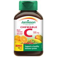 JAMIESON Vitamín C 500mg 3 ovocné přích.tbl.100+20