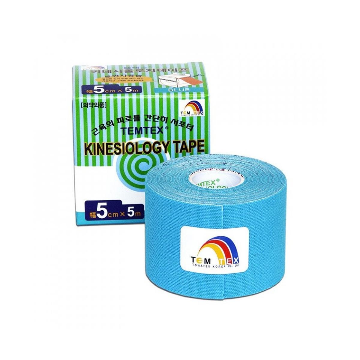 Tejp. TEMTEX kinesio tape modrá 5cmx5m