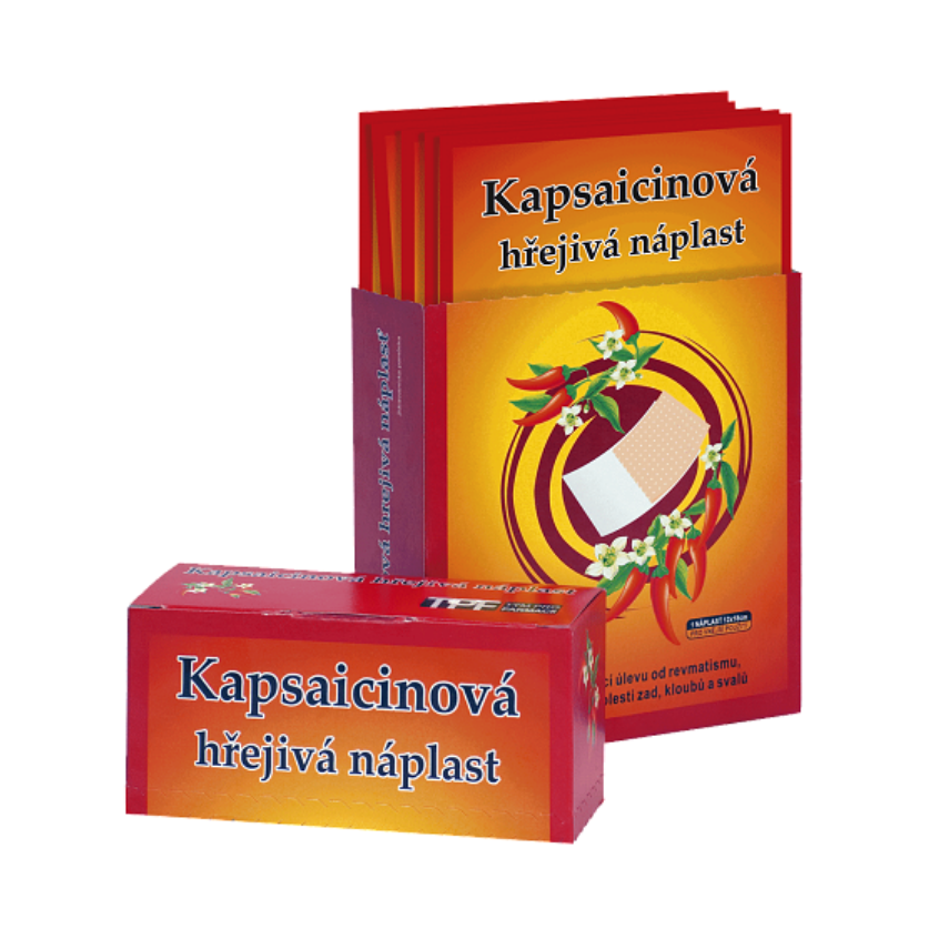 Kapsaicinová hřej.náplast 12x18cm 50ks CAPSICOLLE