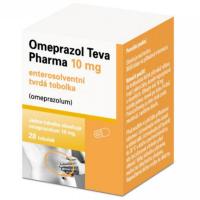 Zobrazit detail - Omeprazol Teva Pharma 10mg por. cps. etd. 28x10mg