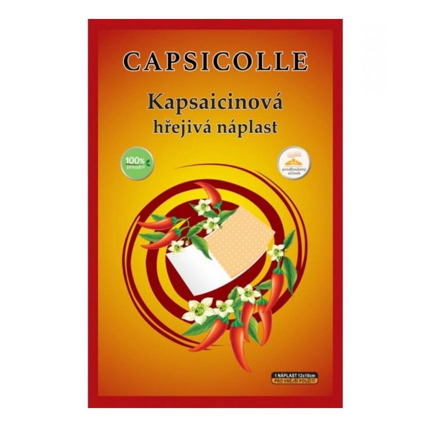 Kapsaicinová hřej.náplast 12x18cm 1ks CAPSICOLLE