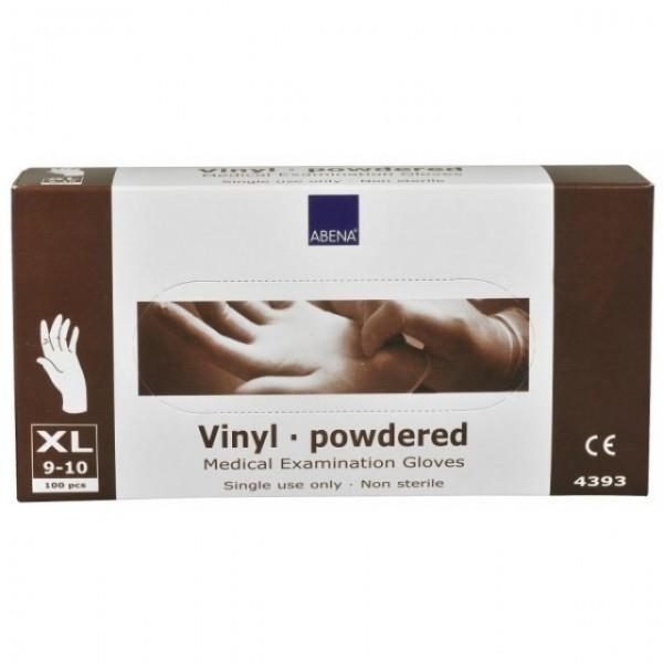 ABENA Rukavice vyšetř. Vinyl XL pudrované 100ks
