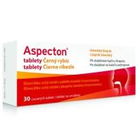 Zobrazit detail - Aspecton tablety na kašel černý rybíz 30ks