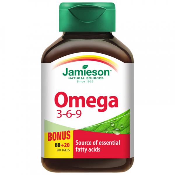 JAMIESON Omega 3-6-9 1200mg cps.100