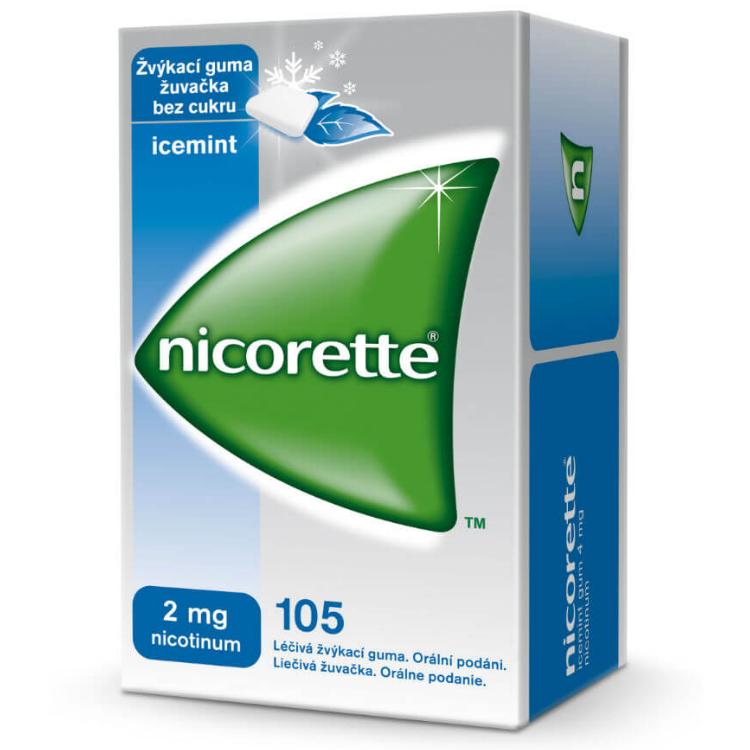 Nicorette Icemint Gum 2 mg léčivá žvýkací guma 105