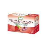 Zobrazit detail - Ovocno-bylinný čaj Jahoda +Echin.  20x2g Fytopharma