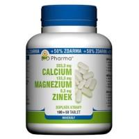 Zobrazit detail - Calcium+Magnesium+Zinek tbl. 100+50 Bio-Pharma