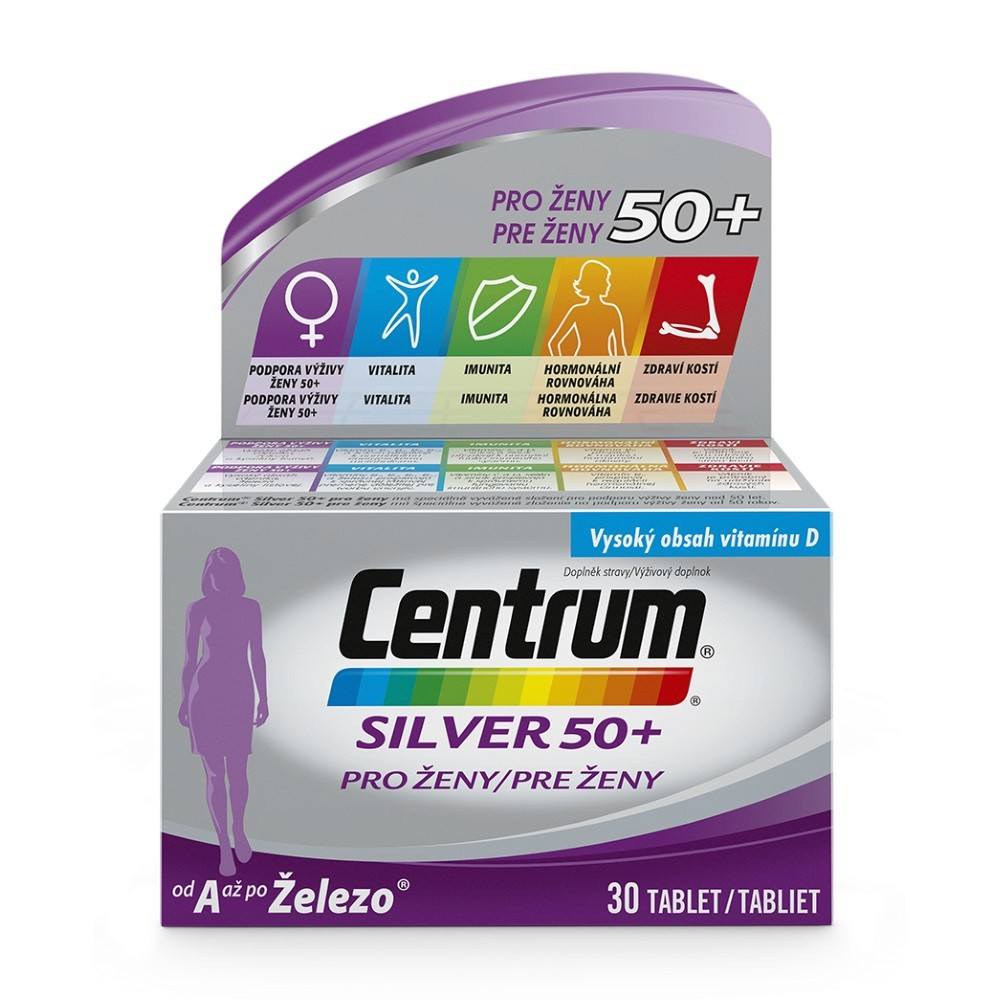 Multivitamin Centrum Silver 50+ pro ženy 30tbl