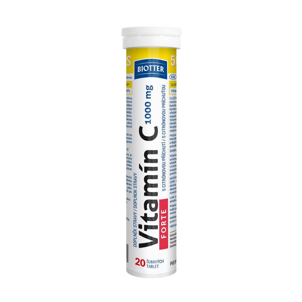 Vitamín C 1000mg FORTE 20ks šumivých tablet
