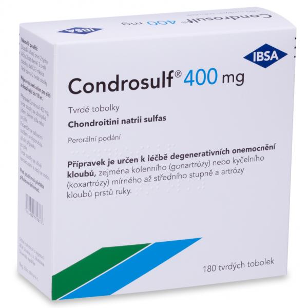 Condrosulf 400 mg 180 tvrdých tobolek