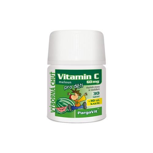 PargaVit Vitamin C meloun pro děti tbl.60