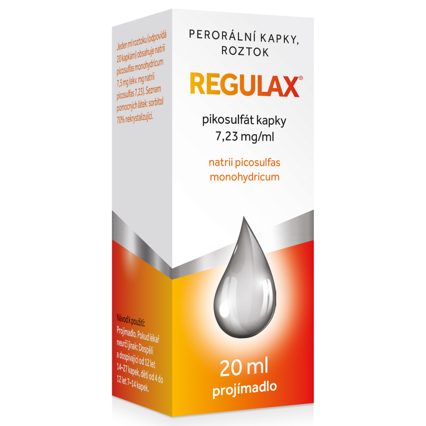 Regulax Pikosulfat kapky gtt.1x20ml-150mg