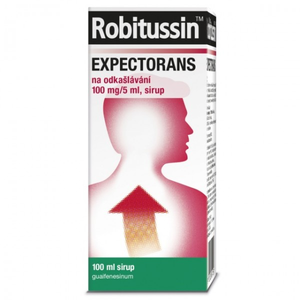 Robitussin Expectorans odkašl.100mg/5ml sir.100ml