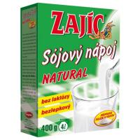 Zobrazit detail - Sójový nápoj - Zajíc natural 400g-krabička
