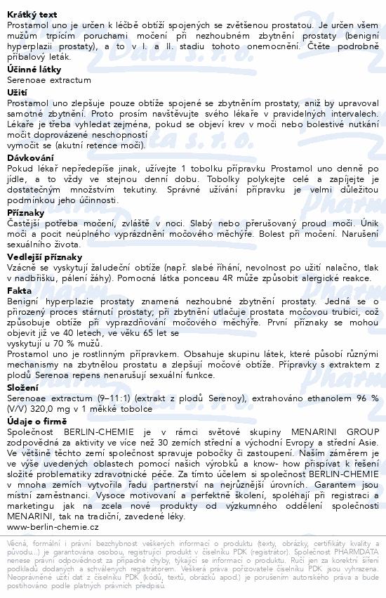 Informace o produktu Prostamol Uno 320mg 30 kapslí