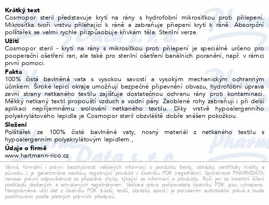 Informace o produktu Rychloobvaz COSMOPOR steril.15x6cm/1ks