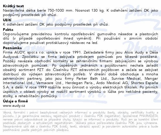 Informace o produktu Berle francouzská předloketní JH89-zelená