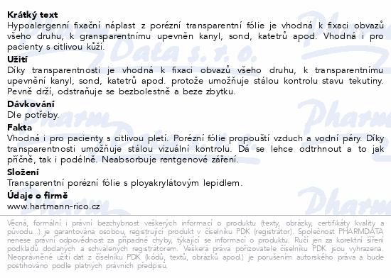 Informace o produktu Náplast Omnifilm porézní fólie 1.25cmx5m 1ks