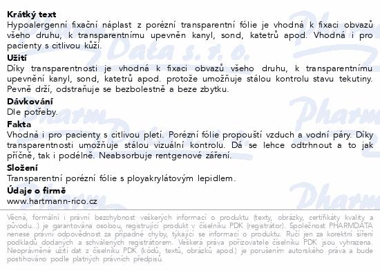 Informace o produktu Náplast Omnifilm porézní fólie 2.5cmx5m 1ks