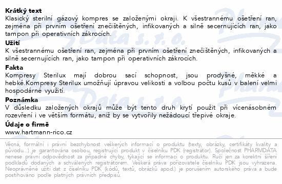 Informace o produktu Gáza kompr.ster.STERILUX 10x10cm 8vrs.25x2ks