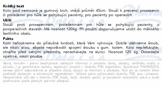 Informace o produktu Kolo pod nemocné pr.45cm