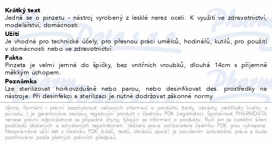 Informace o produktu Pinzeta technická 14cm