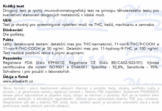 Informace o produktu Drogový test THC Instant-View 1 ks