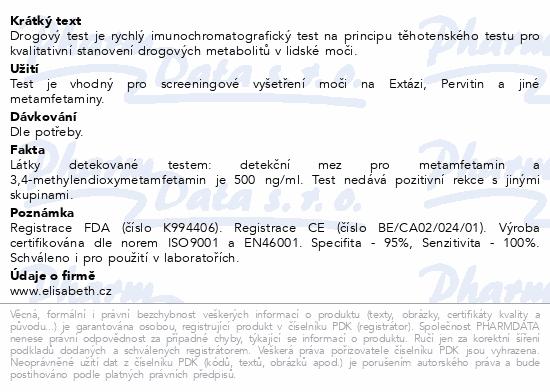 Informace o produktu Drogový test MET Instant-View 1 ks